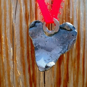 Romantic Heart-Shaped Pendant - Hand-Made/Welded