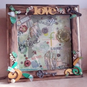 Mixed Media Collage Shadowbox