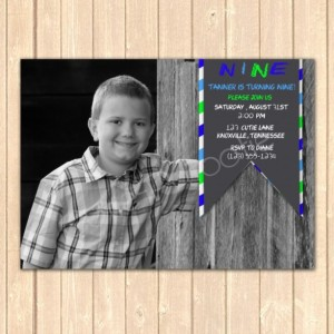 Personalized Photo Birthday Event Invitation