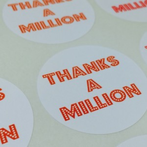 "Thanks a Million Labels (48 - 1.5"" Circle)"