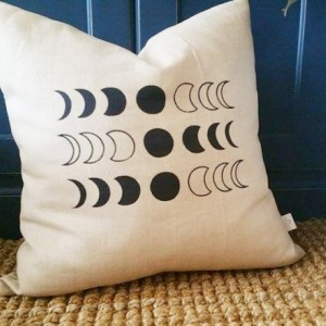Moon Phase Accent Throw Pillow