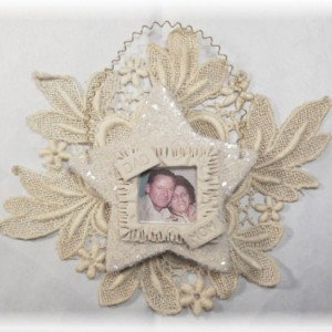 Vintage Look Photograph Star Heart Keepsake Personalized Ornament