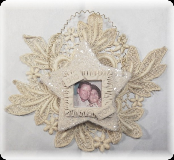 Vintage Look Photograph Star Heart Keepsake Personalized Ornament