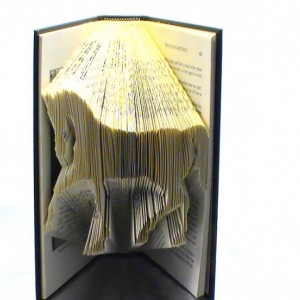 Horse Book Origami - Custom Horse Folded Book Art