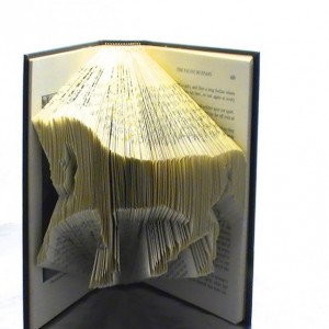 Horse Book Origami - Custom Horse Folded Book Art
