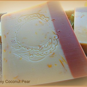 Creamy Coconut And Pear Goats Milk Soap