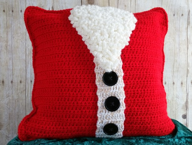 santa christmas pillow cover 16x16 christmas throw pillow cover holiday throw pillow cover - Christmas Decorative Pillow Covers