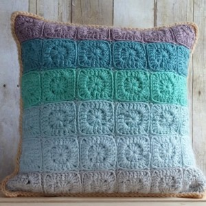 Sea Glass Pillow Cover 14x14, Coastal Beach Decor, Blue Toss Pillow Cover, Nautical, Blue Beach Decor, Blue Cushion Cover, Blue Throw Pillow