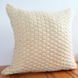 Wool Throw Pillow Cover 16x16, Rustic Cream Pillow Cover, Textured Throw Pillow, Rustic Home, Cream Pillow Cover, Beige Pillow