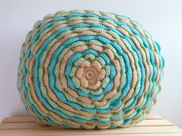Pastel Green Blue Round Pillow, Round Throw Pillow, Round Cushi aftcra