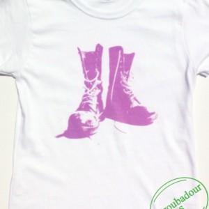 Pink Combat Boots T-Shirt