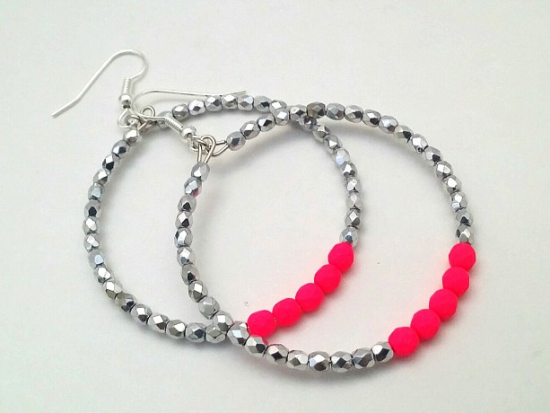 swarovski neon crystals drop original fun pearls glass and dangle preciosa earrings fuchs pink n fuchsia summer colors dainty products
