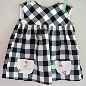 Gingham Baby Geranium Dress, 6-12 months size