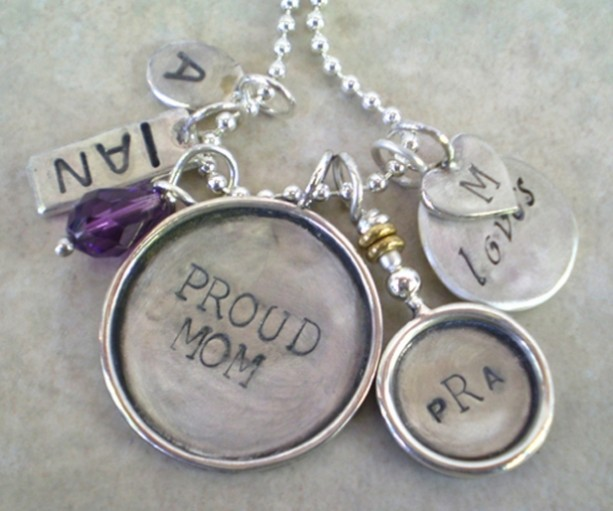 Proud Mom Cluster Necklace