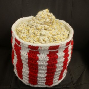 Popcorn throw pillow