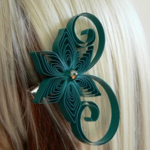 Bridesmaid Hair Accessory Pictured here in Royal Blue