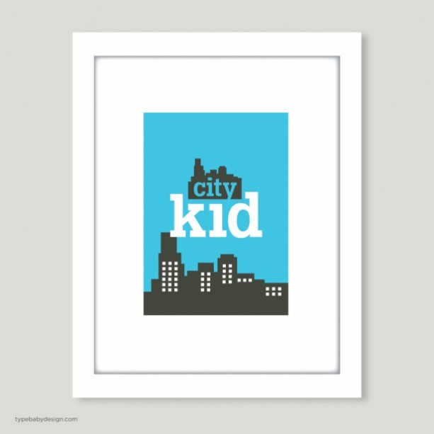 City Kid art print - for nursery or kids room