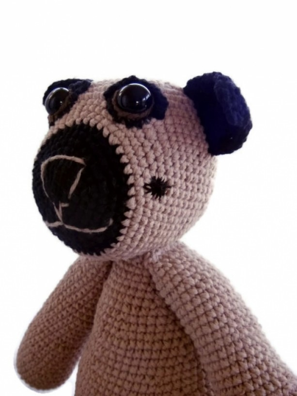 Pug dog amigurumi tutorial | Amiguroom Toys | 817x613