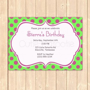 Personalized Purple Polka Birthday Event Invitation