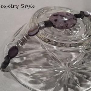 Purple Speckle Bracelet