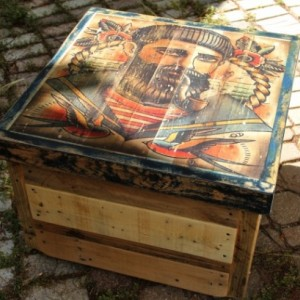 "Quyen Dinh Collection, ""Seaman"" Rolling Sea-Chest"
