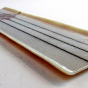 Handmade Fused Glass Hors D'oeuvres Tray with Rachlette Design
