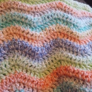 Rainbow waves baby blanket