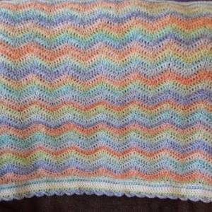 Rainbow waves baby blanket