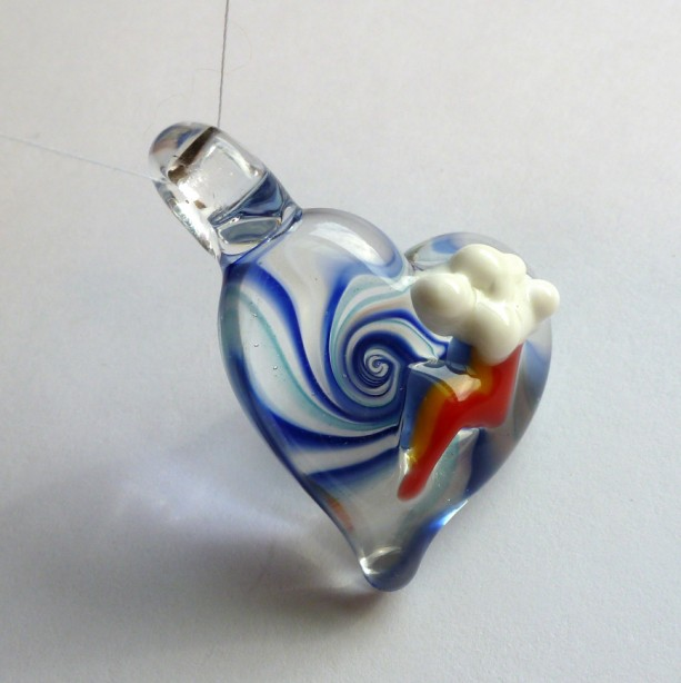 Rainbow Dash Heart Swirl Pendy