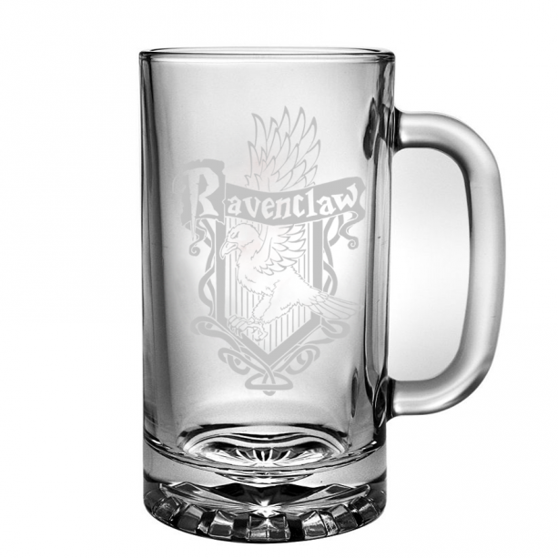 harry potter ravenclaw house crest etched beer mug aftcra