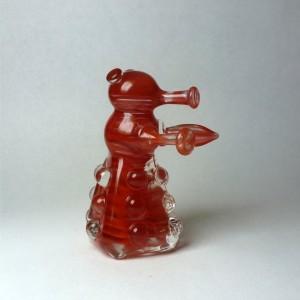 Glass Dalek in Swirly Red