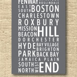 Boston Neighborhoods Poster