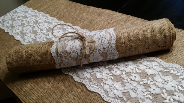 Burlap And Lace Table Runners 120 Inches Long