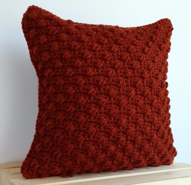Rust Pillow Cover 16x16, Rust Throw Pillow Cover, Rustic Decor, Contemporary Decor, Textured Accent Pillow