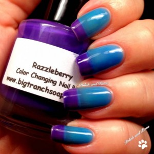 "Ombre Color Changing Thermal Nail Polish - ""Razzleberry"" - Blue to Purple - Temperature Changing - 0.5 oz Full Sized Bottle"