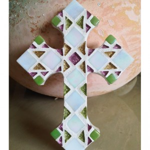 Mosaic Art Wall Cross