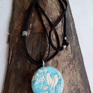 Turquoise Lovebirds Necklace
