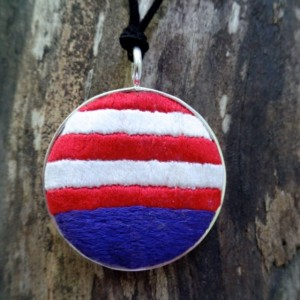 Flag Inspired Necklace