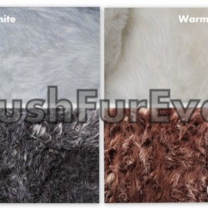 3' x 5' White Faux Fur Rug, single sheepskin rug fake animal skin rug, bedroom rug, nursery rug shag area fur throws rugs
