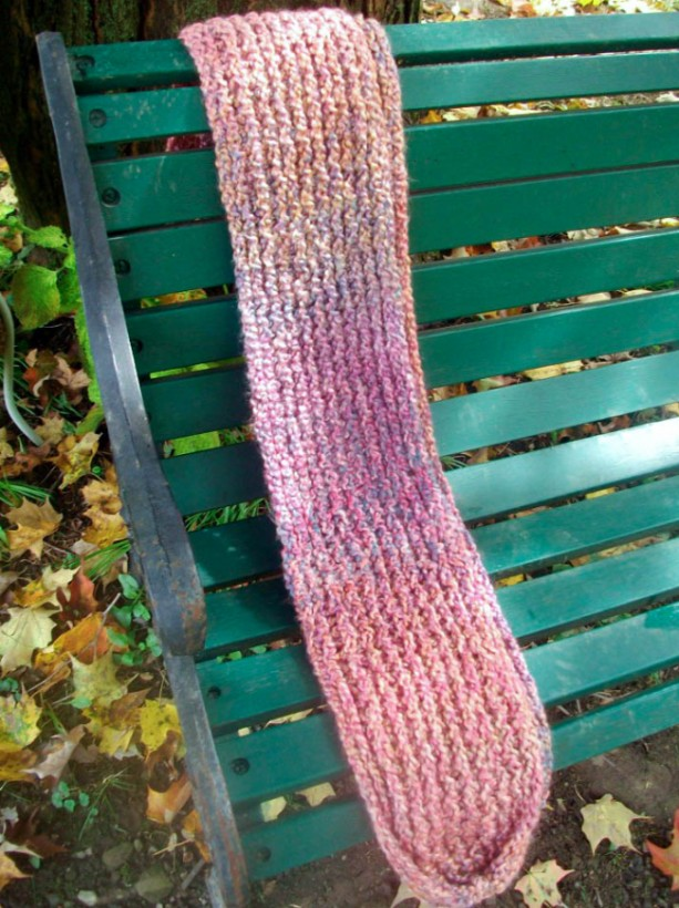 """Coral Reef"" Hand-Knit Scarf"
