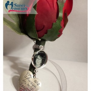 Personalized Boutonniere Charm / Boutonniere Memorial Charm / Boutineer Memorial Charm