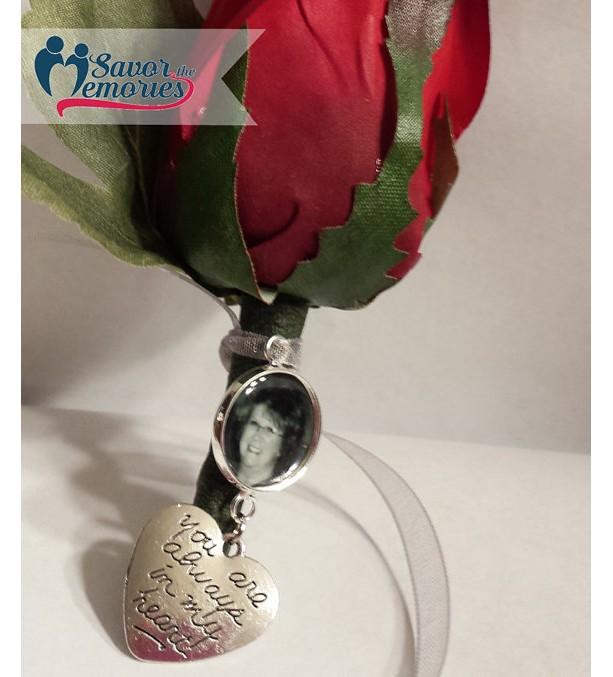 Personalized Boutonniere Charm / Boutonniere Memorial Charm / Boutineer Memorial Charm