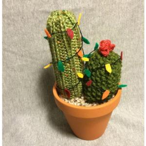 Christmas Knit Cactus
