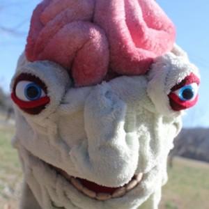 Screep the creep Handmade OOAK Puppet Monster Custom Fun for Everyone half-body soft sculpture