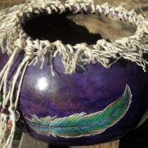 Hand Painted and Decorated Gourd