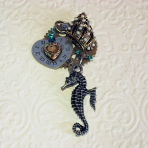 "Steampunk ""By the Sea"" Pendant"