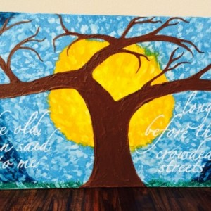 """Dreaming Tree. A Tribute to Dave Matthews Band, """"Dreaming Tree"""". Mixed Medium, with Very Bright Colors."""
