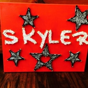 Custom Painted and Threaded Art! Personalize Your Own! 3-6 Letters. 129 and up!