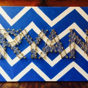 Custom Painted, Melted and Threaded Art. Personalized! 4-7 Letters!