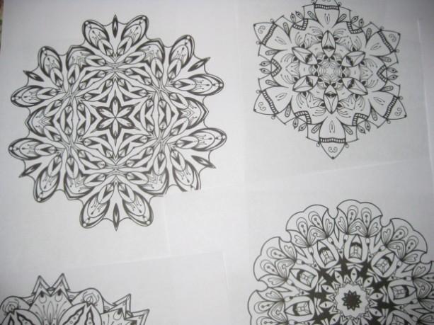 Mandala Kaleidoscope Coloring Pages Cd Volume 10 Free
